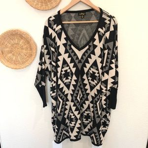 Audrey 3+1 oversized sweater top size M